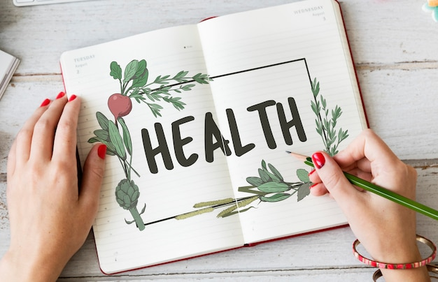 Dieta zdrowa naturalna receptura wellness food concept
