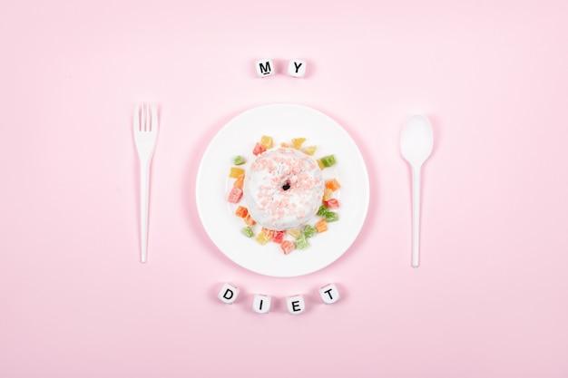 Dieta, zdrowe odżywianie, styl życia. utrata wagi