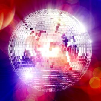 Disco club mirror globe