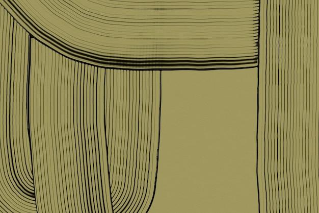 Diy abstrakcyjne teksturowane tło w zielonej linii wzór sztuki eksperymentalnej