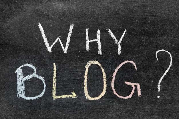Dlaczego pytanie na blogu napisane odręcznie na szkolnej tablicy