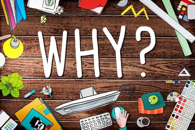 Dlaczego pytanie powód ciekawe mylące koncepcje