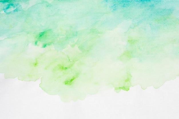Dłoń akwarela sztuka malowania gradientu zielone tło