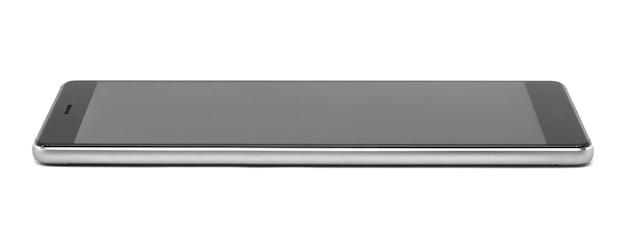 Długi telefon komórkowy na białym tle ze ścieżką przycinającą.