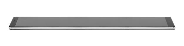 Długi telefon komórkowy na białym tle