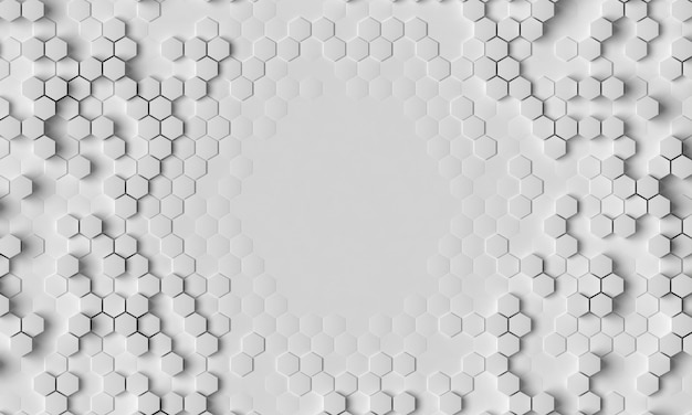 Długie ujęcie 3d białe tło