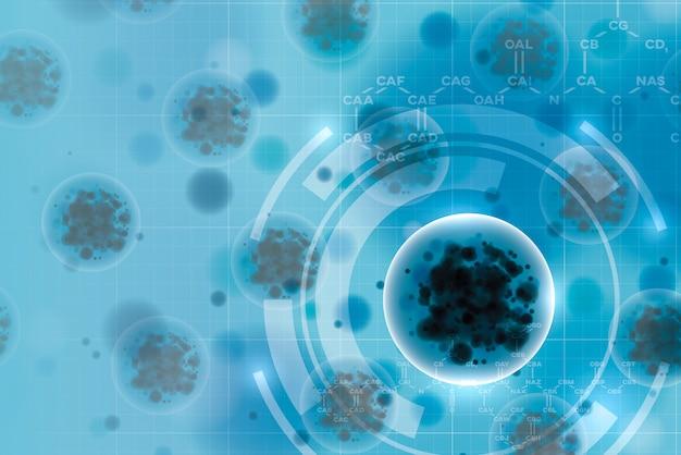 Dna i chromosom dla abstrakcyjnego tła covid lub wirusa koronowego