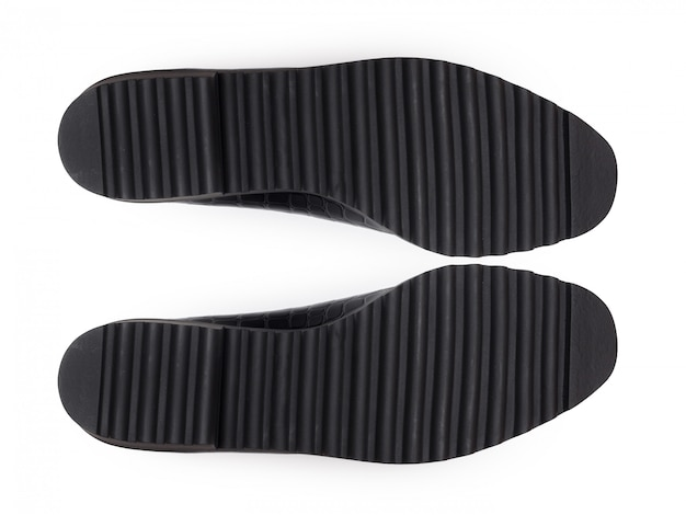 Dno butów, na białym tle.