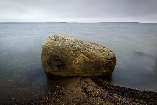 Dno skalne w czystej wodzie morskiej