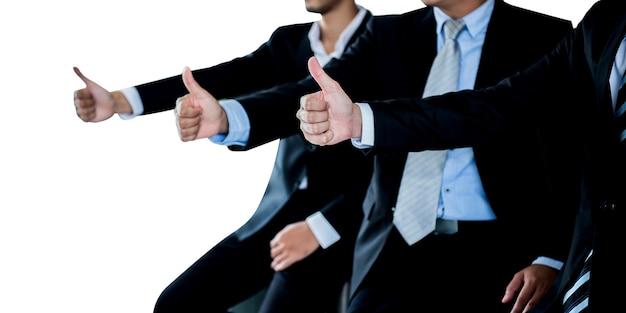 Dobra praca zespołowa w biznesie, na białym i wyciętym
