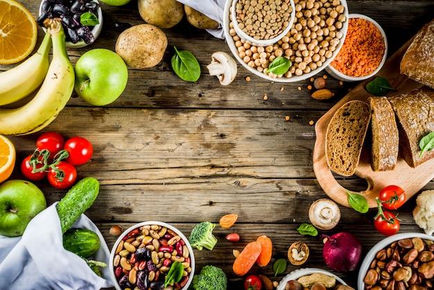 Dobra żywność bogata w błonnik węglowodanowy