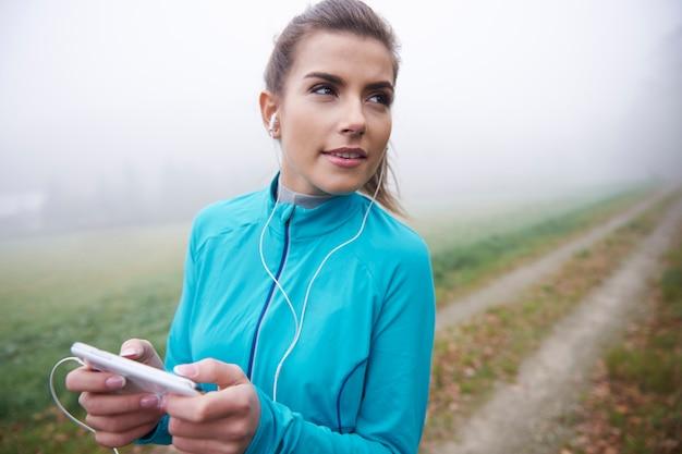 Dobre dźwięki pomagają mi znaleźć motywację do biegania