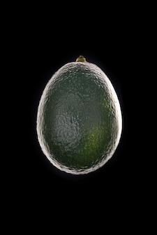 Dojrzała avocado sylwetka odizolowywająca