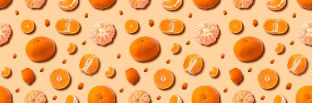 Dojrzałe mandarynki ustawić tło, mandarynki cytrusowe.