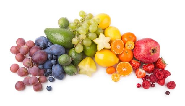 Dojrzałe owoce jak tęcza