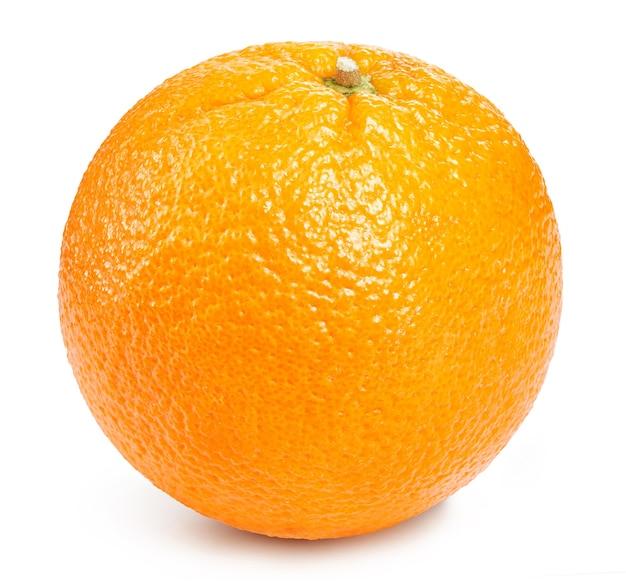 Dojrzałe owoce pomarańczy na białym tle