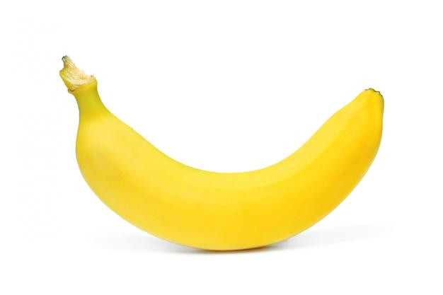 Dojrzały banan odizolowywający