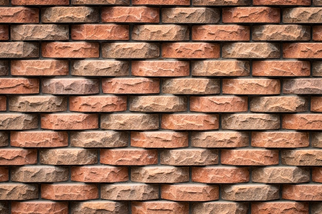Dokładna teksturowana ściana z cegły.