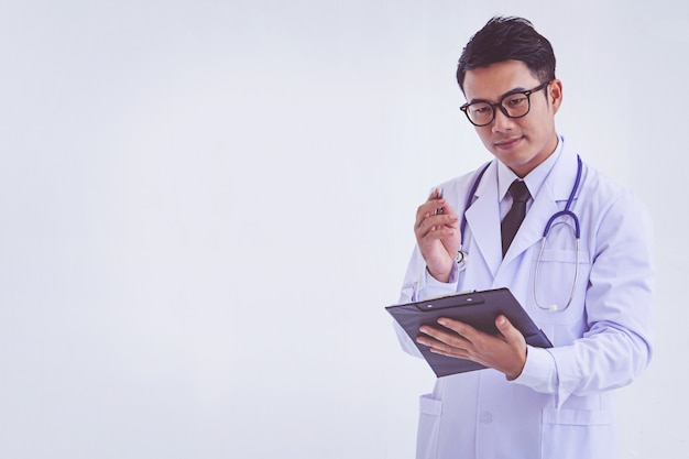 Doktorski mienie schowek z receptą