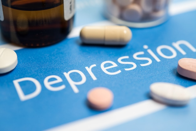 Dokumenty i narkotyki związane z depresją