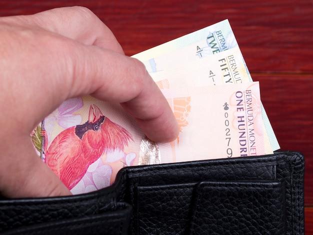 Dolar bermudzki w czarnym portfelu