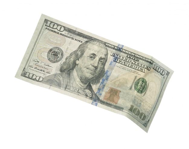 Dolar na białym tle