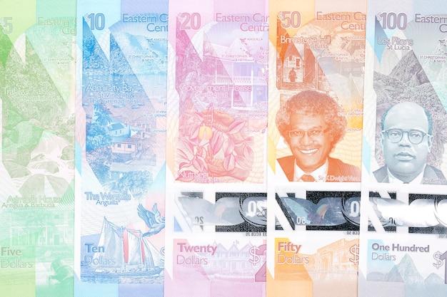 Dolar wschodniokaraibski pełny zestaw nowej serii