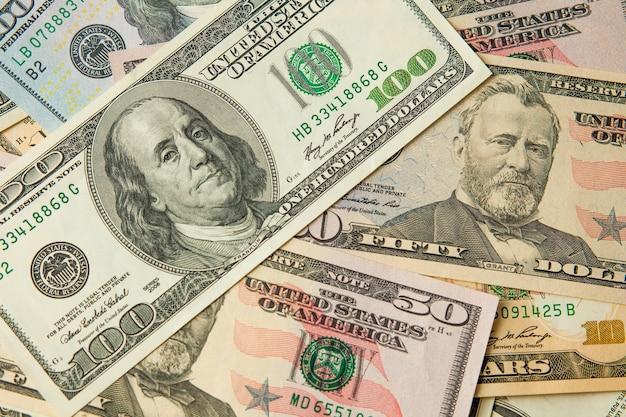 Dolary amerykańskie o różnych nominałach
