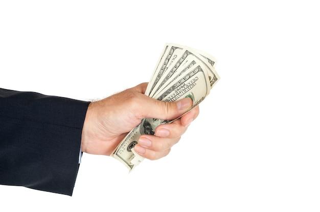 Dolary w dłoni biznesmena