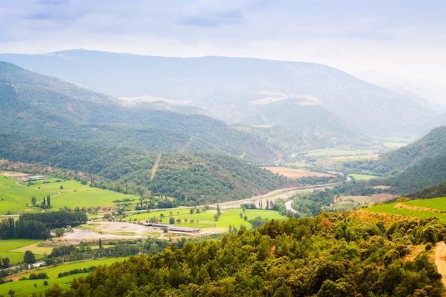 Dolina górska w pirenejach