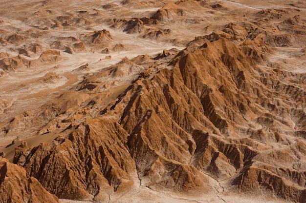 Dolina marsa, znana również jako dolina śmierci, na pustyni atacama w chile