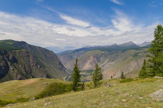 Dolina rzeki, widok z góry