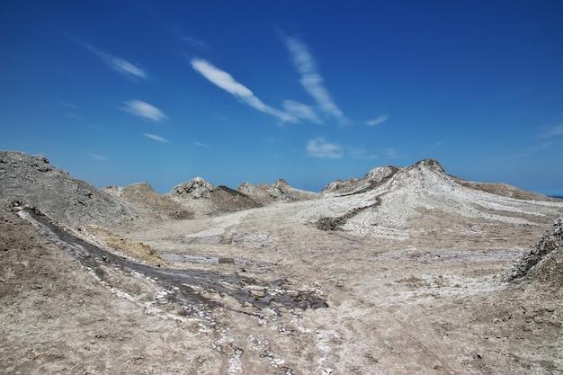 Dolina z wulkanami błotnymi, azerbejdżan