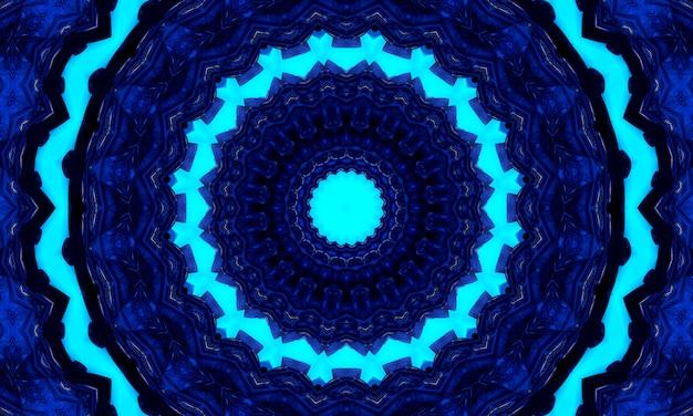 Dolna gzhel deco okrągłe elementy dekoracyjne mandali indygo, niebieska linia i biały obszar do kolorowania. cień wokół mandali i kolor tła. arab, islam, indyjska, chińska ilustracja jogi.
