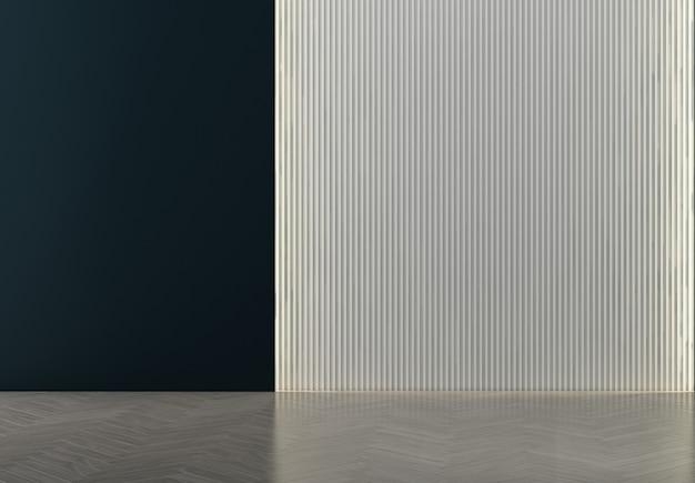 Dom i dekoracja oraz wystrój wnętrz salonu i puste niebieskie tło ściany