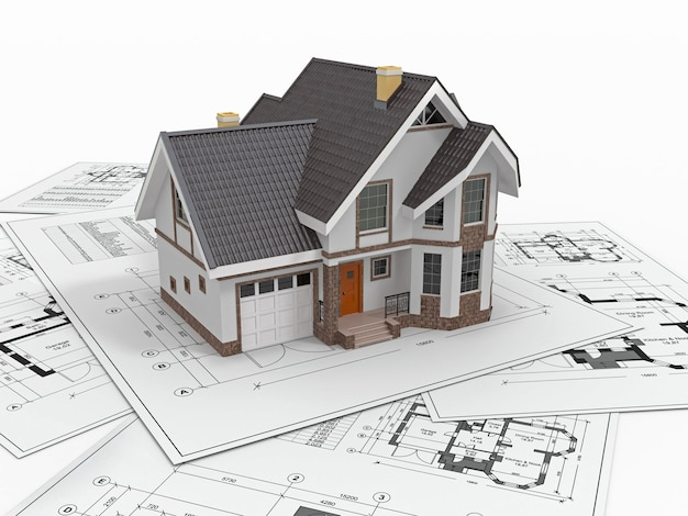 Dom mieszkalny na plany architekta. projekt domu.