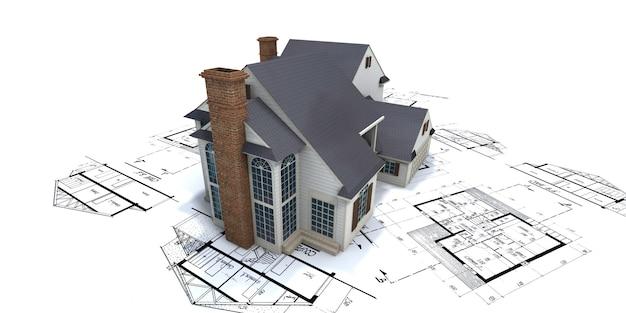Dom mieszkalny na podstawie planów architekta