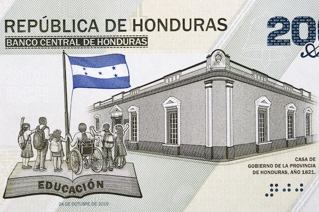 Dom rządowy prowincji honduras z pieniędzy