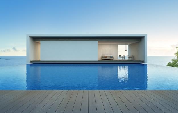 Dom z widokiem na morze z basenem i tarasem.