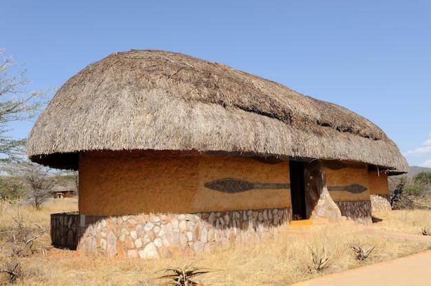 Domek, ośrodek. afryka. kenia. park narodowy samburu