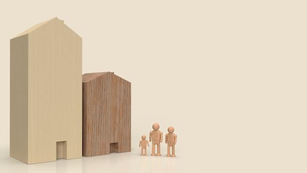 Domowa zabawka i rodzina figurek do wykorzystania w budownictwie lub nieruchomości