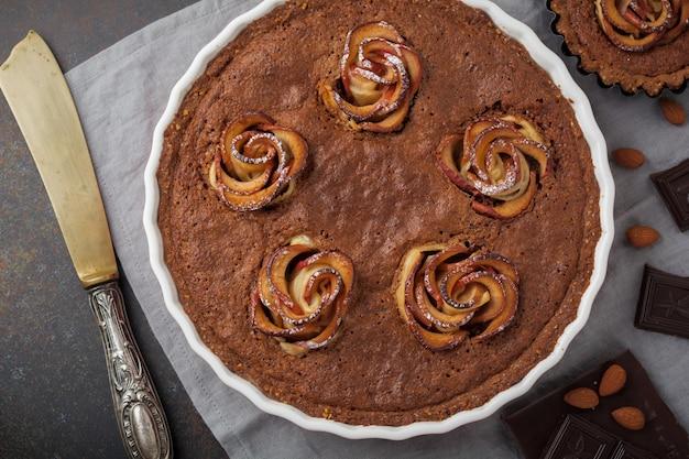 Domowe ciasto czekoladowe z frangipane