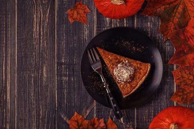 Domowe ciasto dyniowe na święto dziękczynienia