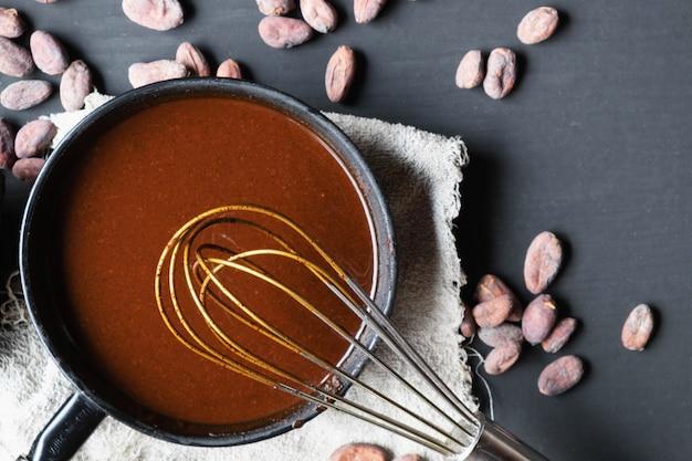 Domowe kakao z gorącą czekoladą