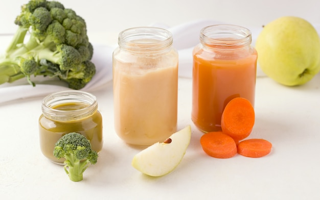 Domowe przeciery warzywne dla niemowląt