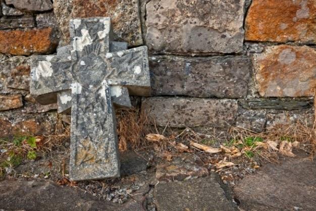 Donegal cmentarz kamienny krzyż hdr