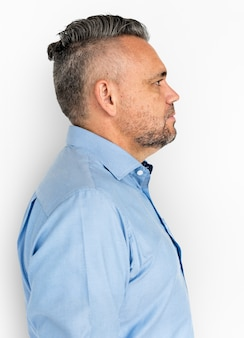 Dorosłego mężczyzna nutural ufny portreta pojęcie