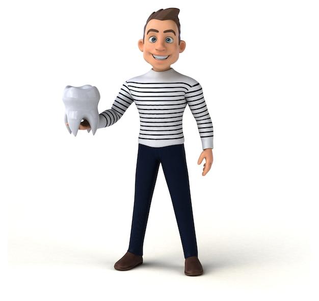 Dorywcza postać z kreskówki śmieszne 3d
