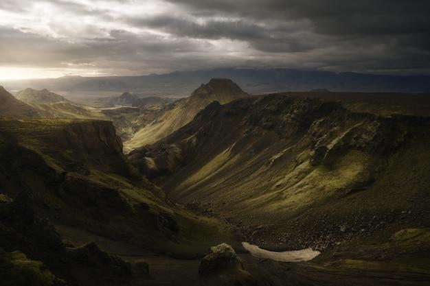 Doskonałe oświetlenie w thorsmork islandii