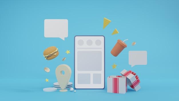 Dostawa żywności z telefonem komórkowym